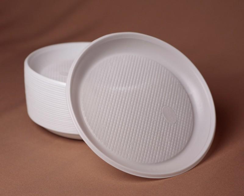 Тарелка пластиковая d 205 мм (50 шт.)